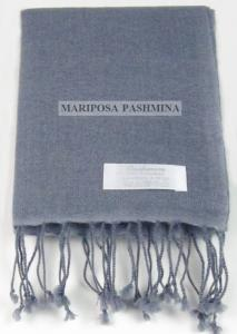 PASHMINA S - SMALL CASHMERE SCARF - SILVER GREY