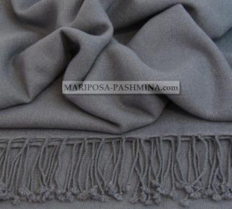 REAL PASHMINA - CASHMERE SHAWL - 100% cashmere - SILVER GREY